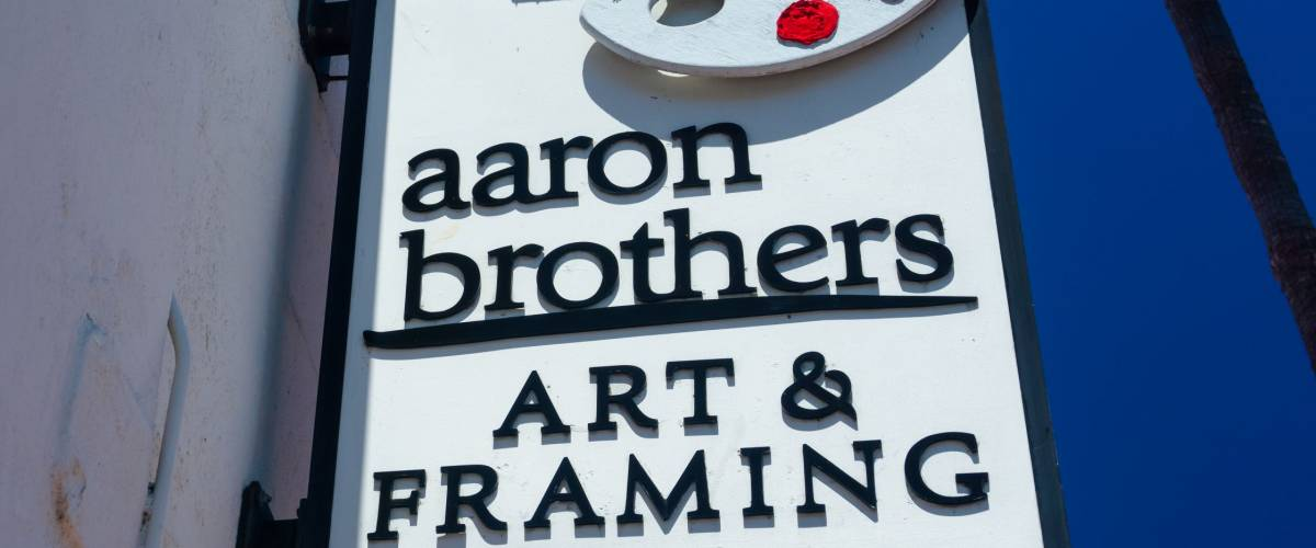 SANTA BARBARA, CA/USA - JULY 26, 2015: Aaron Brothers store and sign. Aaron Brothers is an art supply store chain in the United States.