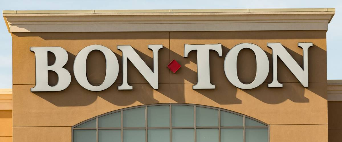 Lancaster, PA - January 15, 2017: Exterior Entrance of a Bon-Ton store, Bon-Ton is a chain of retail department stores in over 250 locations.